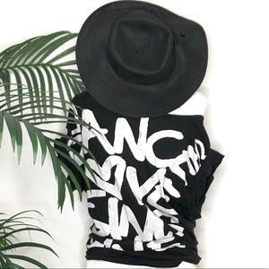 Dance love sing live off the shoulder T-shirt.